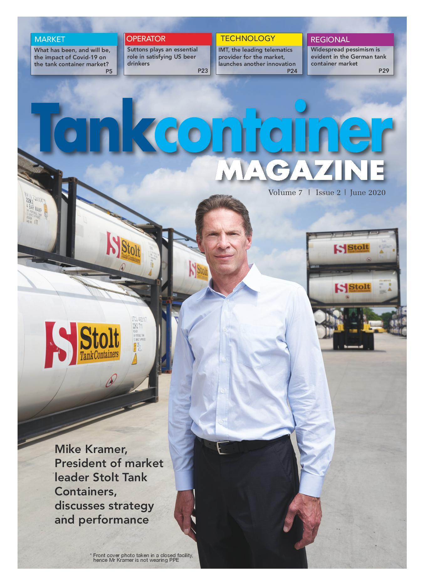Tankcontainer Magazine Cover page